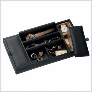 Men's Leather  Valet Tray
