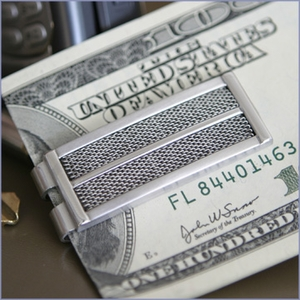 Mesh Stainless Steel Money Clip