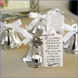 Mini Kissing Wedding Bell Favors - Set of 24