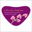 Mini Orchid Heart Shaped Personalized Stickers