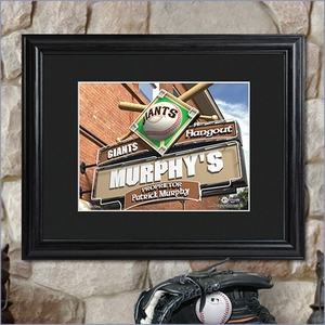 MLB Pub sign with Wood Framing