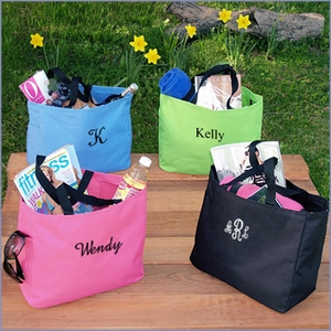 Monogram Bridesmaid Tote Bags