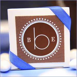 Monogram Square Theme Tags & Labels - Set of 20