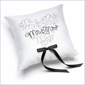 Mr. & Mrs. Ring Pillow