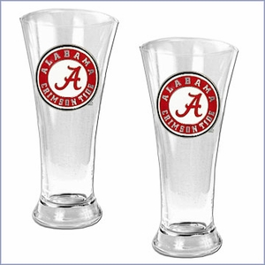 NCAA Team Logo 19oz Pilsner Glass Set