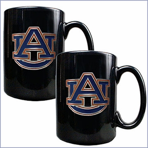 NCAA Team Logo Black Ceramic Mug Set