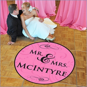Newly Weds Wedding Dance Floor Custom Decal - Mr. and Mrs. (50)