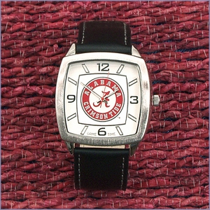 Official NCAA Football Logo Leather Watch