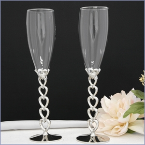 Open Heart Crystal Toasting Flutes
