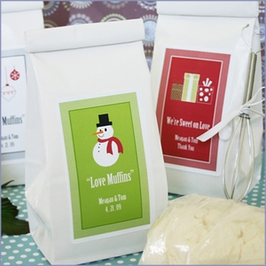 Personalized A Winter Holiday Muffin Mix Wedding Favors