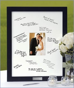 Personalized Autograph Guest Book Frame