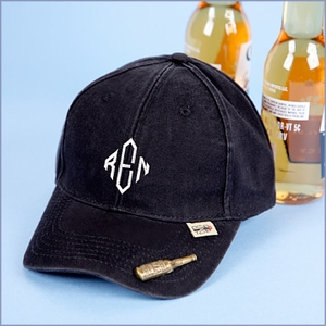 Personalized Baseball Cap and Bottle Opener