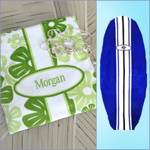Personalized Beach Towel - Surfboard Shaped