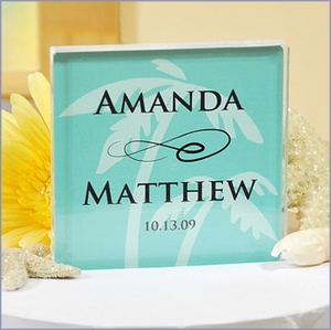 Personalized Beach Wedding Cake Topper