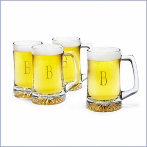 Personalized Beer Glass Set - Set of 4