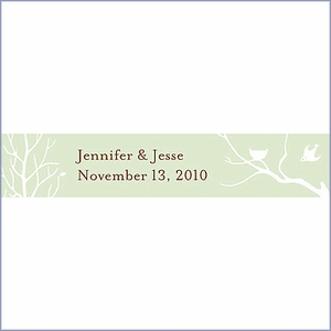 Personalized Bird with Nest Silhouette Wedding Favor Card