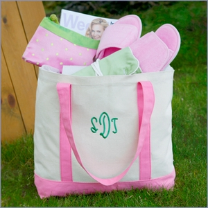 Personalized Natural Canvas Tote