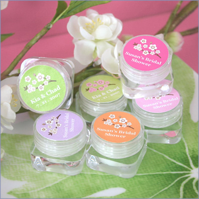 Personalized Cherry Blossom Hand Cream Bridal Shower Favors