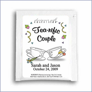 Personalized Classic Wedding Tea Favors