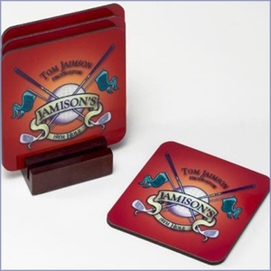 Personalized Coasters w/ Stand (Set of 4)