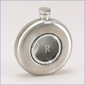 Personalized Crystal Round Flask