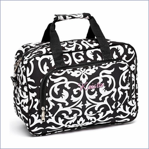 Personalized Damask Duffel Bag