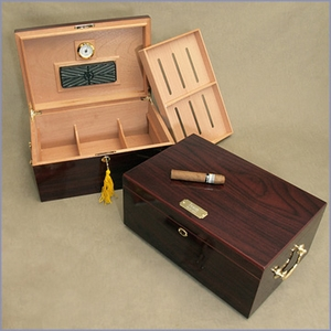 Personalized Desktop Humidor with Handles