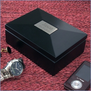 Personalized Ebony Wood Box