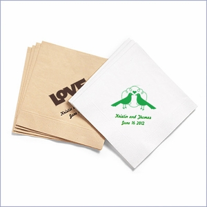 Personalized Eco-Friendly Beverage Napkins -  100 pcs
