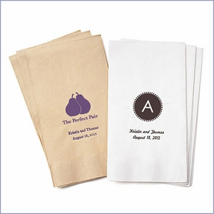 Personalized Eco-Friendly Guest Towel Napkins - 80 pcs