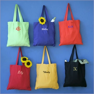 Personalized Edge Canvas Tote Bag