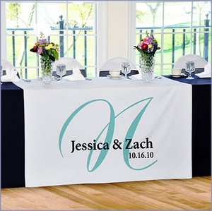 Personalized Elegance Wedding Reception Table Runner