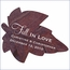 Personalized Fall Leaf Wedding Favor Sticker