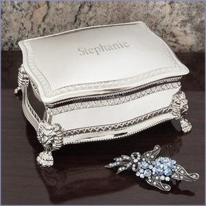 Personalized Figaro Jewelry Box