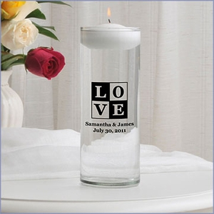 Personalized Floating Unity Candle