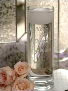 Personalized Floating Unity Candle and Vase