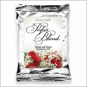 Personalized Floral Design Wedding Coffee Favors