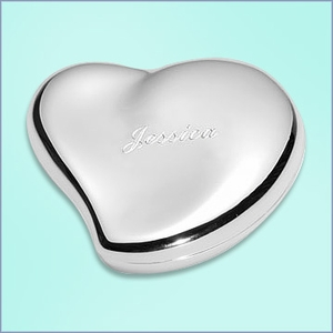 Personalized Free-Form Heart Jewelry Box