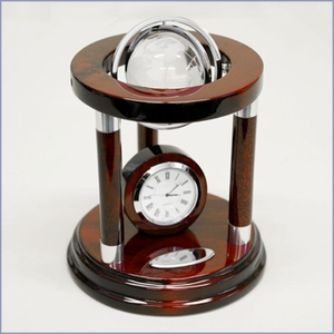 Personalized Galaxy Crystal Globe and Clock