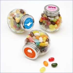 Personalized Glass Jar Wedding Favors - Pack of 24
