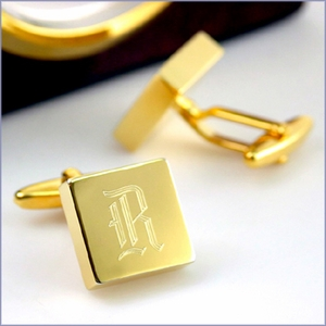 Personalized Groomsmen Cufflinks - Brass