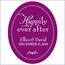 Personalized Happily Ever After Frame Wedding Favor Sticker