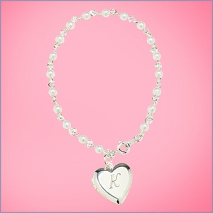 Personalized Heart Locket Bracelet