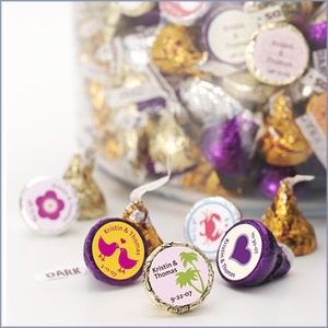 Personalized Hershey Kisses Chocolate Favors