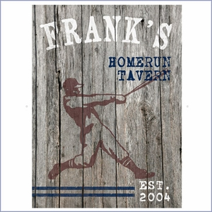 Personalized Homerun Canvas Print