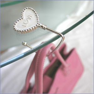 Personalized Hooked on Love Purse Hooks Favors