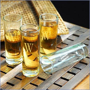 Personalized Island Shooter Glasses - Set of 4