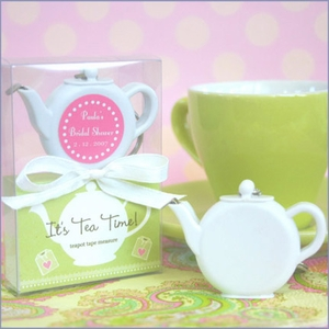 Personalized It's Tea Time! Teapot Tape Measure  Favors