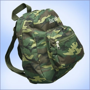 Personalized Kids Camo Backpack