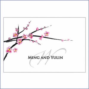 Personalized Large Cherry Blossom Wedding Favor / Gift Tag (Set of 12)